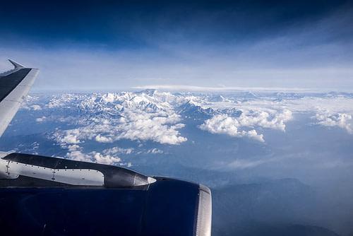 Voyage au Bhoutan. Survol#Himalaya#UmaParo